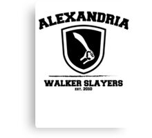 The Walking Dead - Alexandria Walker Slayers Canvas Print