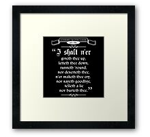 Thou Hast Been Rick Rolled Framed Print