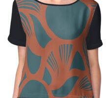 orb (orange/green) Chiffon Top