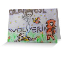 deadpool vs wolverine Greeting Card
