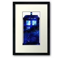 Watercolour TARDIS Framed Print