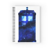 Watercolour TARDIS Spiral Notebook