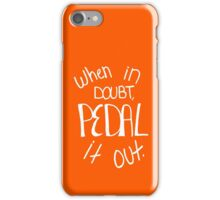 Pedal It Out Orange iPhone Case/Skin