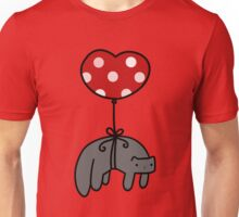 Heart Balloon Cat Unisex T-Shirt