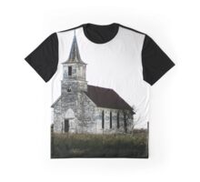 Old Nebraska Church Graphic T-Shirt
