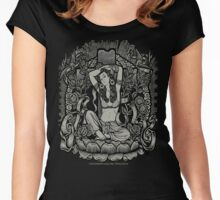 Tara Goddess Vintage LA Pinup Women's Fitted Scoop T-Shirt