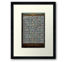 Fallout - Perks Chart Framed Print