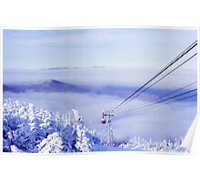 Tram on the Clouds on Cannon Mountain Poster