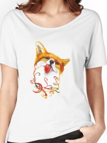 Fox Watercolor Women's Relaxed Fit T-Shirt