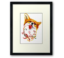 Fox Watercolor Framed Print