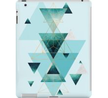 Geometric Triangle Compilation in teal, aqua and rose gold iPad Case/Skin