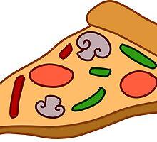 Mushroom Pizza Slice by SaradaBoru