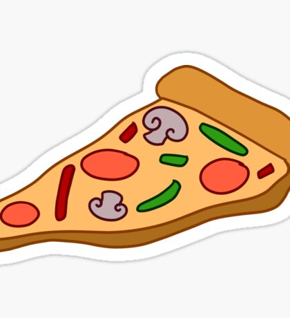 Mushroom Pizza Slice Sticker