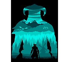 Dragonborn Silhouette Photographic Print