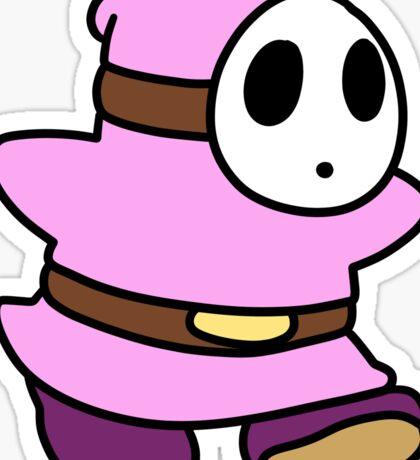 Pink Shyguy Sticker