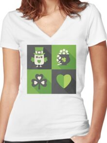 Irish Eyes Are Smiling Women's Fitted V-Neck T-Shirt