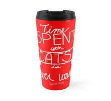 Time Spent With Cats Red Travel Mug