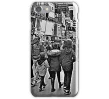 People in Times Square, New York City in B&W iPhone Case/Skin