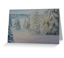 Winter In Gyllbergen Greeting Card