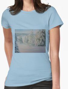 Winter In Gyllbergen Womens Fitted T-Shirt