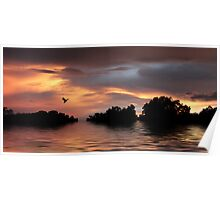 Sunset River Poster
