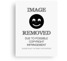 Image Removed Canvas Print
