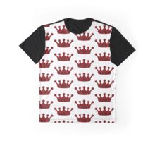 Red,Black,Princess,Queen,Crown,Lace Graphic T-Shirt