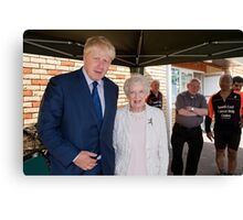 June Whitfield  & Boris Johnson Canvas Print