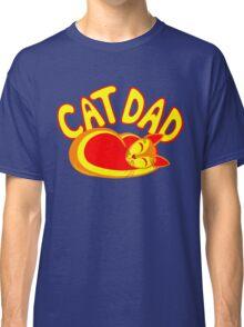 Cat Dad Orange Yellow Red Cute Cat Lover Design Classic T-Shirt