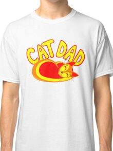 Cat Dad Orange Yellow Red Cute Cat Lover Design Classic T-Shirt