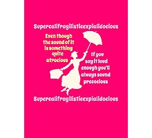 Super Poppins Photographic Print