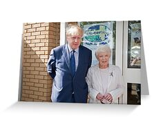 June Whitfield & Boris Johnson Maylor of London Greeting Card