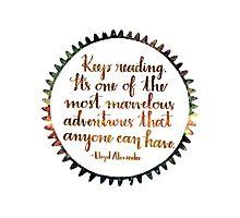 Keep Reading Photographic Print
