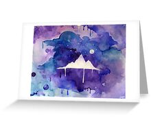 Watercolour Mountain Greeting Card