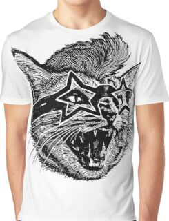 Funky Cat Graphic T-Shirt