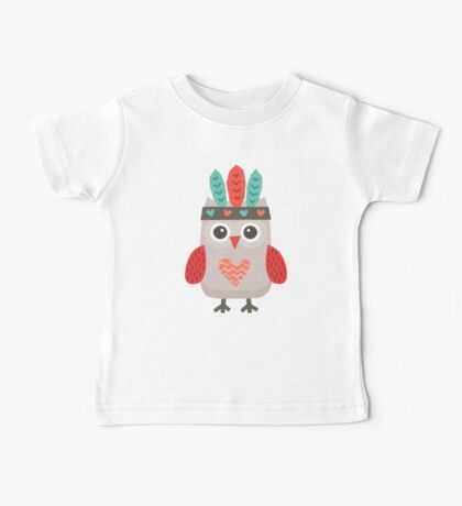 Hipster Owlet Mint Baby Tee