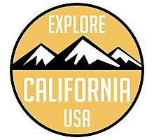 EXPLORE CALIFORNIA USA MOUNTAINS BIKING HIKING CAMPING CLIMBING Photographic Print