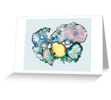Peace Fish - Gray background Greeting Card