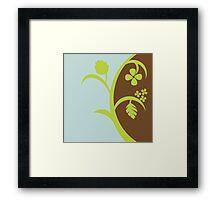 Floral Graphic Framed Print