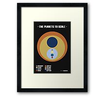 The Planets to Scale Framed Print