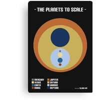 The Planets to Scale Canvas Print