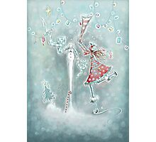 Sophie and the Snowman Photographic Print