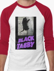 Black Tabby  Men's Baseball ¾ T-Shirt
