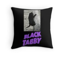 Black Tabby  Throw Pillow