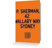 P Sherman Greeting Card