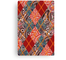 Indian Paisley & Imperial Argyle Pattern Canvas Print