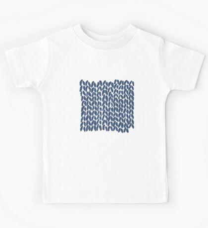 Half Knit Navy Kids Tee