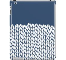 Half Knit Navy iPad Case/Skin
