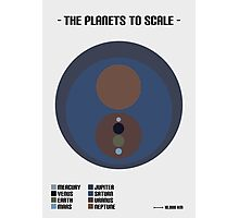 The Planets to Scale (Abstract) Photographic Print