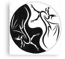 Dragon Ying Yang Canvas Print